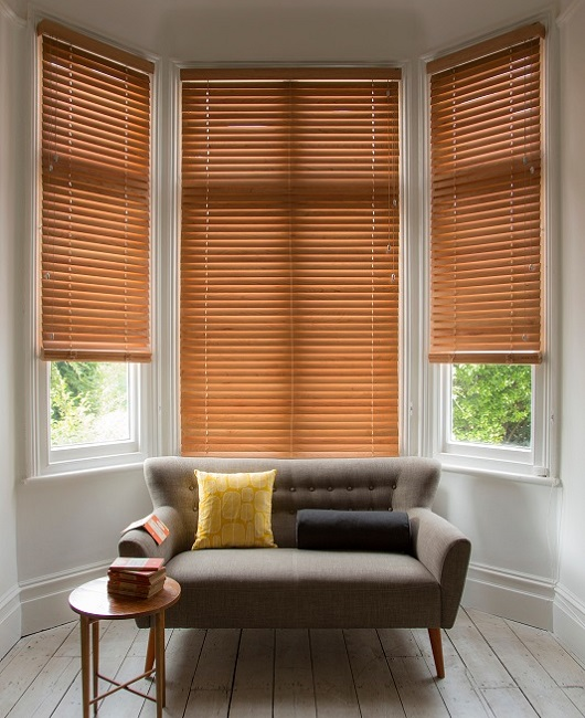 Bay window venetian blinds