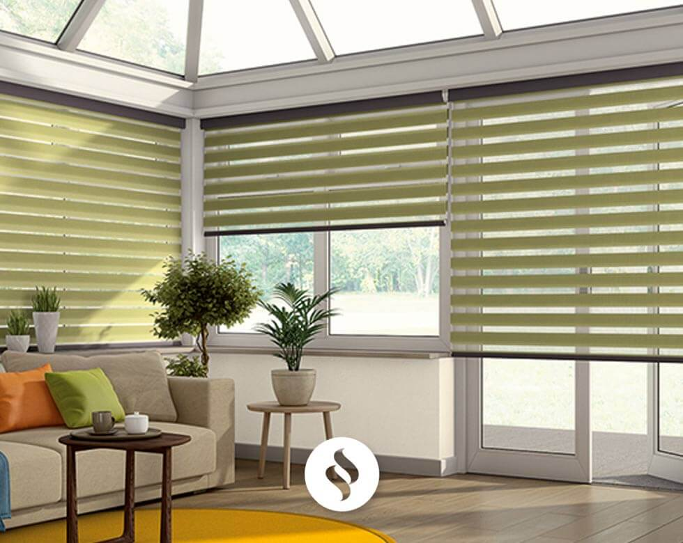 Pleated Conservatory Blinds in uk large image