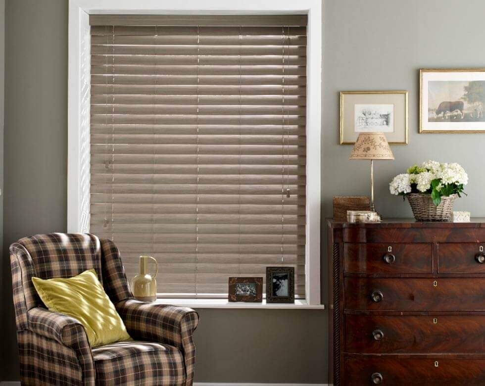 Faux wooden Blinds in uk large image