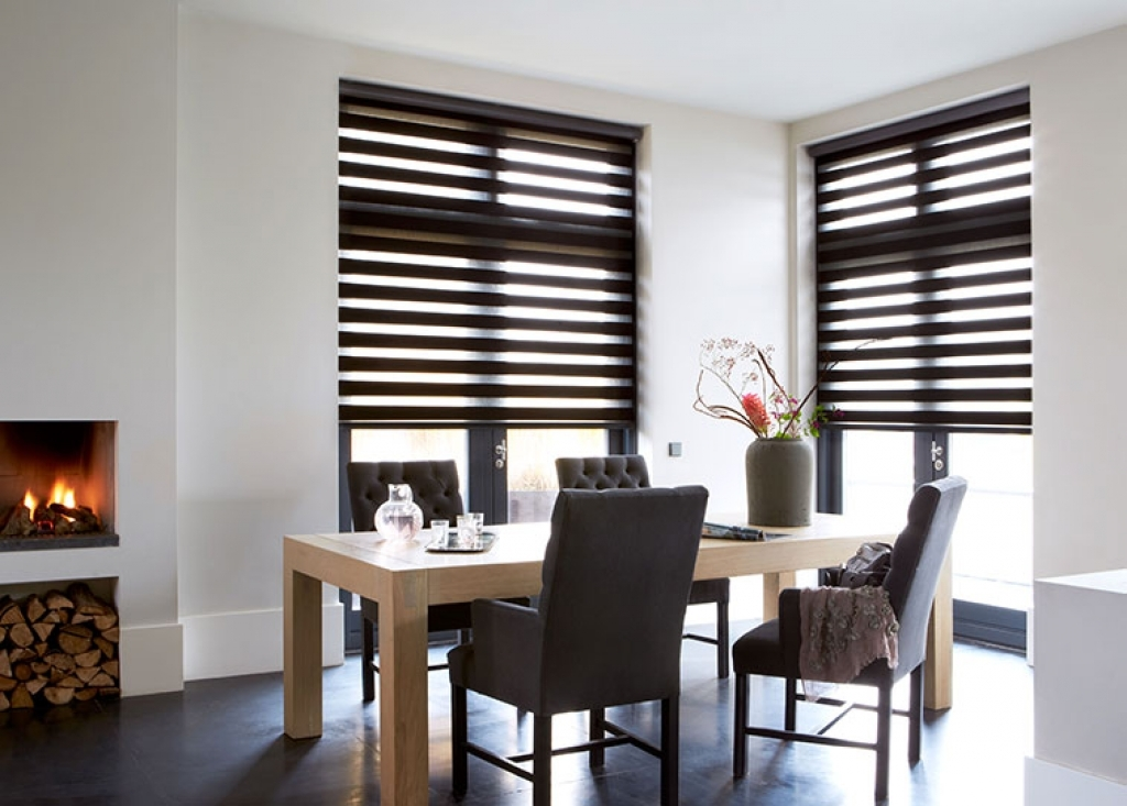 Dining room roman blinds