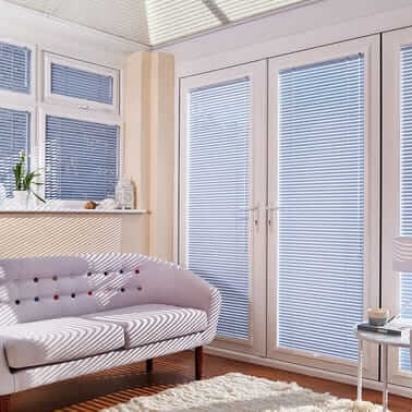 Pleated Conservatory Blinds in uk image
