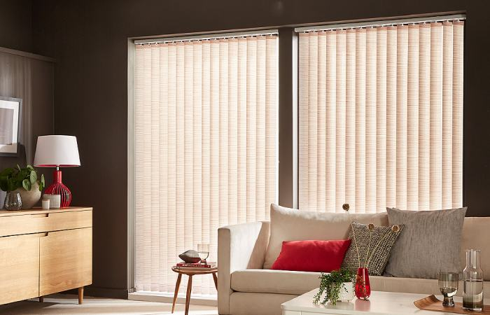 Photo of a Vertical Blinds for Bay Windows in a bedroom from comfort blinds