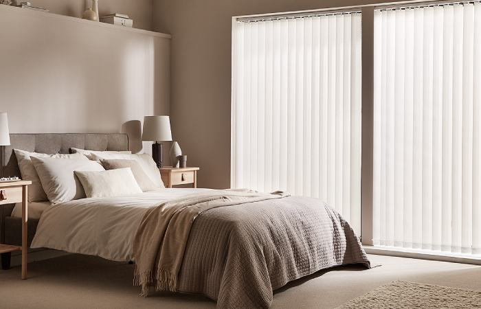 a photo of Blackout Vertical Blinds from comfortblinds Uk