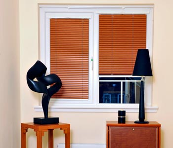 New Smart Privacy Faux Wood blinds in uk image